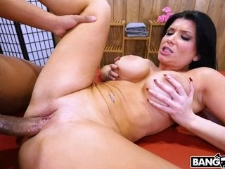 Brown-haired cougar firm pornography