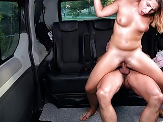 Mature perv ravages a insatiable foolish in the faux cab